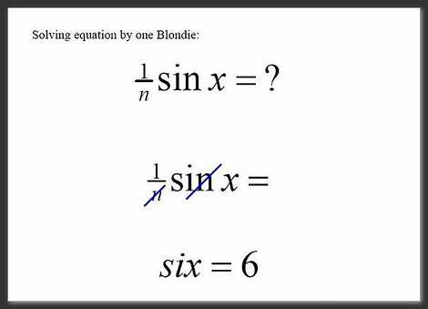 Blonde Maths Answer