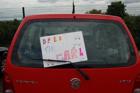 Debbie's Car Sign