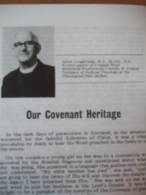 Adam Loughridge on 'Our Covenant Heritage'